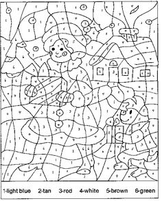 coloring pages color by numbers and christmas coloring pages