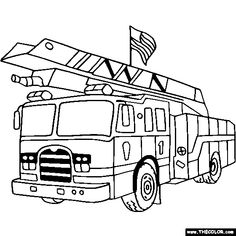 fire truck coloring page color a fire truck more