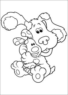 blues clues coloring pages blues clues bday party pinterest