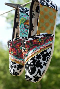 Fabric collaged Toms