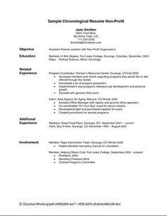 Chronological Order Curriculum Vitae 1000 Ideas About