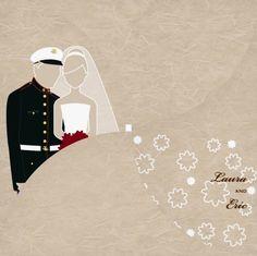 military wedding invitations - Military Wedding Invitations