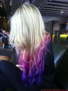blonde and purple