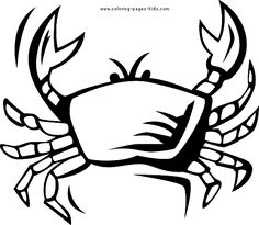 crabs coloring and summer coloring pages on pinterest