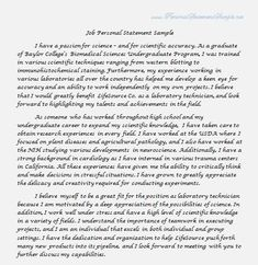 sample essay and personal statements on pinterest