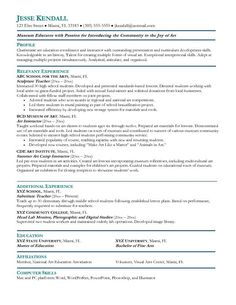 teacher resumes preschool teachers and resume on pinterest
