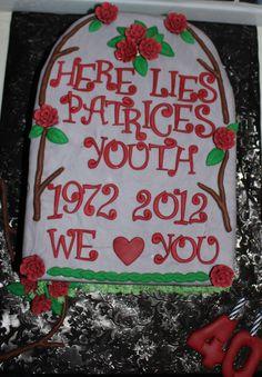 Over The Hill Gravestone Fun Gravestone Cake For My
