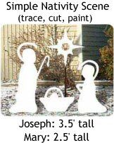 Blessed Nativity Christmas Yard Art Woodworking Pattern