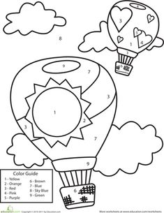 worksheets kids pages and color by numbers on pinterest