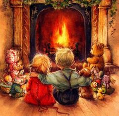 1000 Images About VINTAGE CHRISTMAS Paintings Post Cards