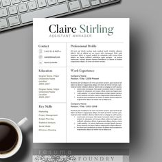 creative resume template cv template cover by resumefoundry