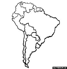 continents online coloring and coloring pages on pinterest