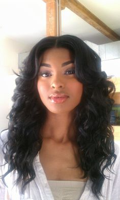 weave bob hairstyles with middle part photosgratisylegal