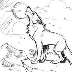 cartoon animal howling wolf coloring pages 00 pinterest