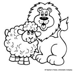 click to see printable version of easter lamb coloring page l is