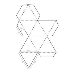 3d paper diamonds cut sheets from cardboard boxes and cover with