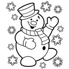 snowman coloring and coloring pages on pinterest
