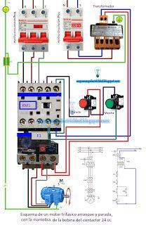 Esquemas eléctricos: Como conectar un contactor trifasico
