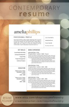 Resume Template No  Cover Letter Reference Page By Resumeangels     Resume Resume Templates And Simple Resume Instant Resume Templates   Instant Resume