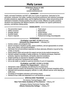 firefighter resume resume templates and resume on pinterest