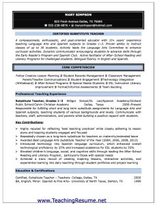teaching resume needs format and style is totally different from