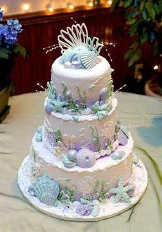 Beach wedding cake Y
