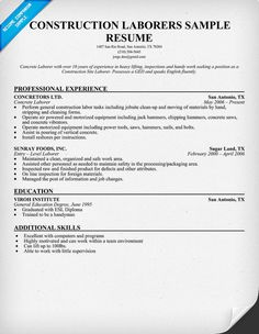 construction estimator resume and resume examples on pinterest