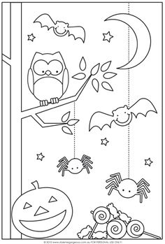 halloween coloring halloween coloring pages and puzzles for kids