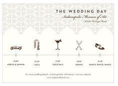 chronologie du jour du mariage calendrier and jour de noces on - Calendrier Noce De Mariage