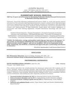 assistant principal sample resume and resume on pinterest