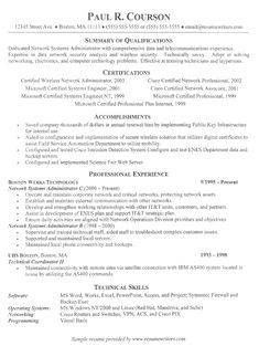resume sample resume and job career on pinterest