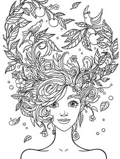 crazy hair adult coloring pages and adult coloring on pinterest