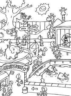 zoo animals coloring pages and zoos on pinterest