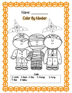 color by numbers halloween and numbers on pinterest