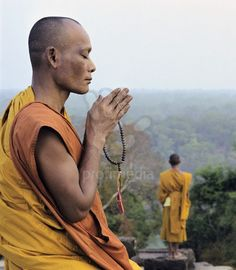Image result for buddhist monk praying