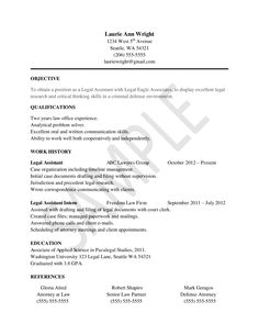 paralegal entry level and resume on pinterest