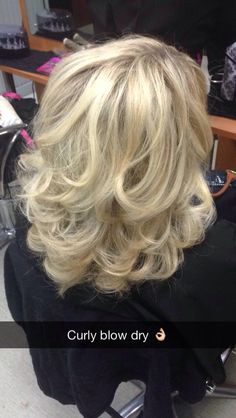 1000 Ideas About Curly Blowdry On Pinterest One Length
