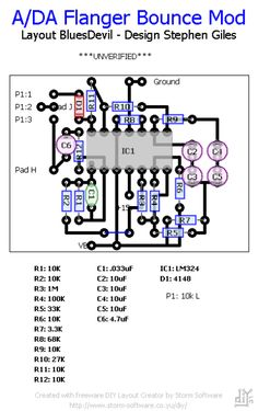Guitar distortion schematic  | Electronic schematics | Pinterest | Guitar and Search