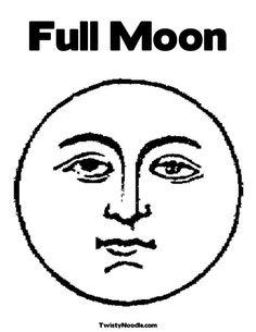 full moon clip art coloring page carson dellosa pinterest