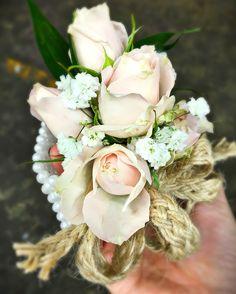 Blush corsage detail
