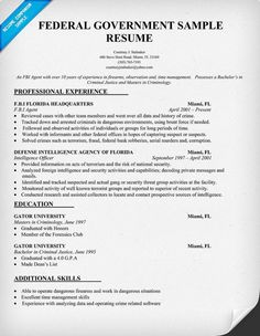 federal government resume template resumecompanioncom federal usa