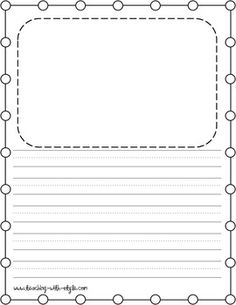 Writing paper templates for second grade