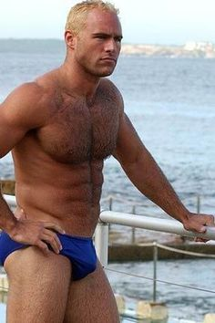 men showing bulge in speedos