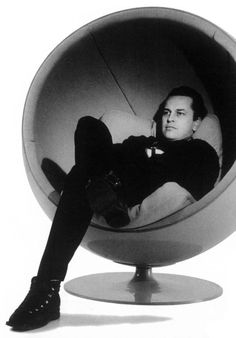 Eero Arnio in His Ball Chair, 1963-65.