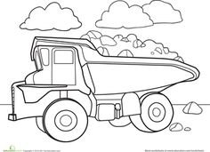 coloring pages dump trucks and coloring on pinterest