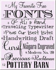 My-Favotie-Fonts...