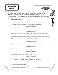 Eighth Grade Reading Comprehension Worksheet