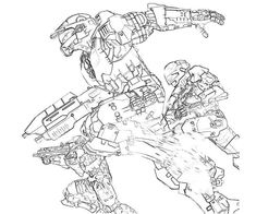 coloring pages halo and coloring on pinterest