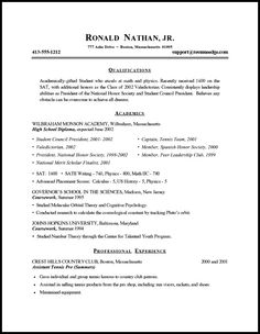 student resume template resume and student resume on pinterest