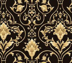 WALLPAPER SAMPLE Red and Gold Victorian Scroll | Wallpaper ...